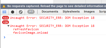 SECURITY_ERR: DOM Exception 18