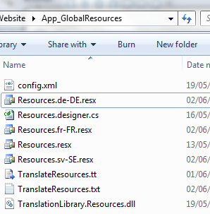 Translated Resource Files