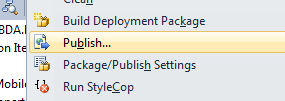 Visual Studio Publish